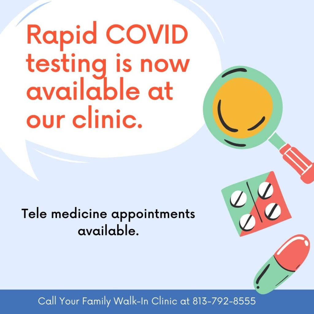 Rapid Convid 19 test is available